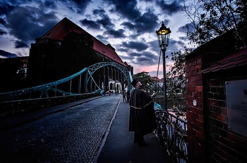 The Wrocław Lamplighter; Photo By Guiseppe Maria Galasso