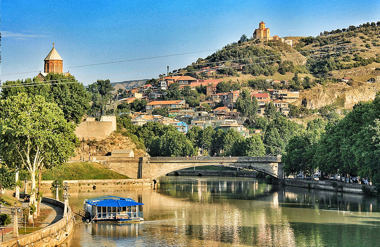 Metekhi Bridge Sightseeing In Tbilisi