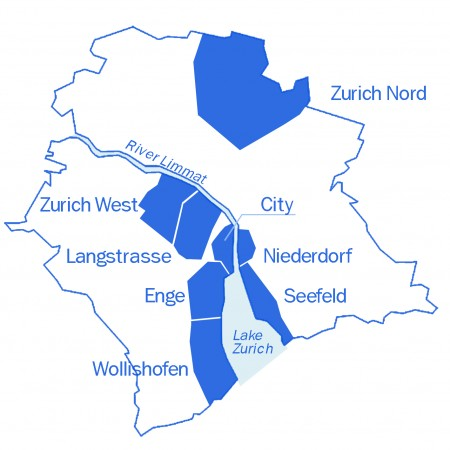 Zurich's districts
