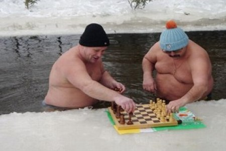 Russian ice swimming